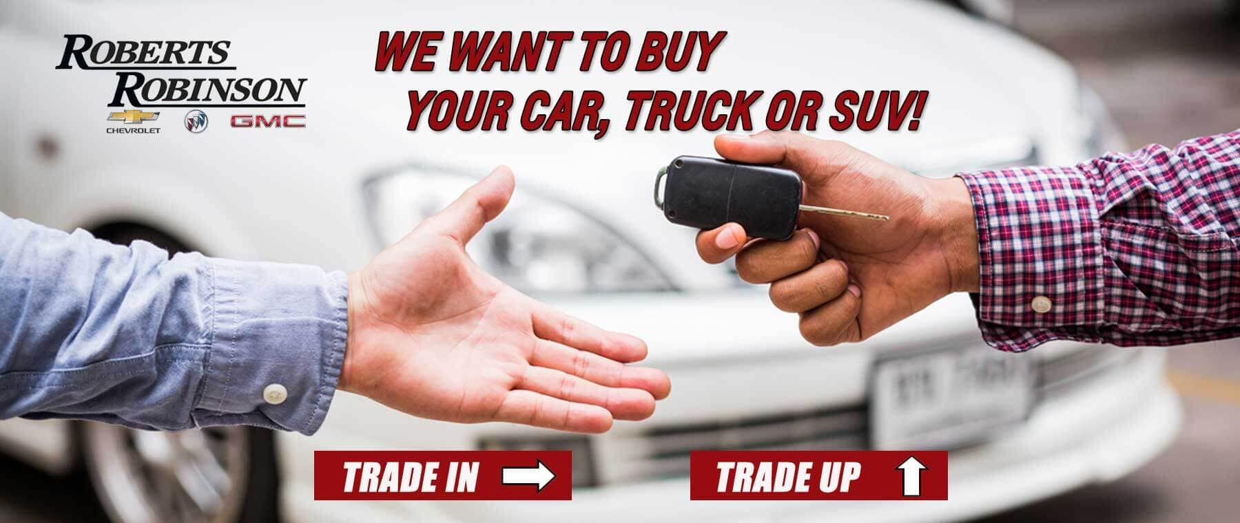 We will buy your used car, truck or SUV