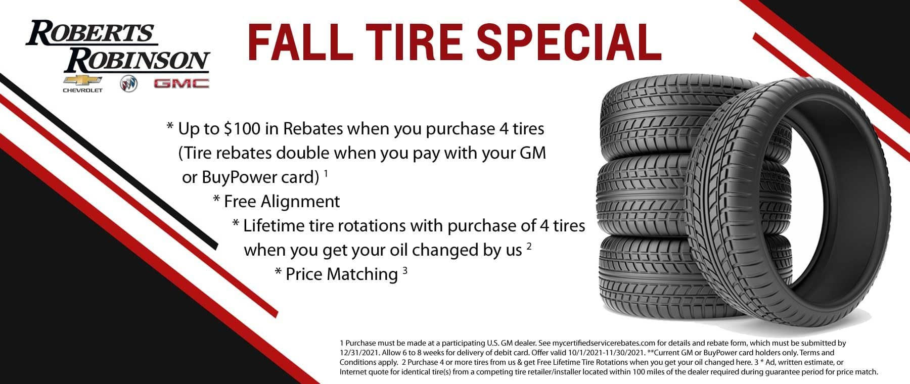 Fall Tire Special Rebates and More!