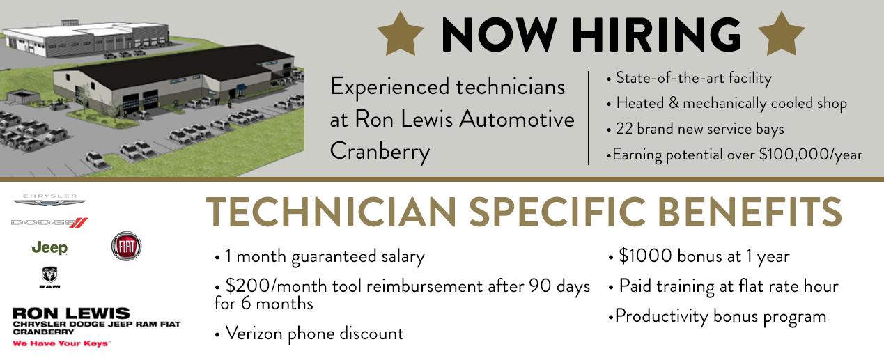 Pittsburgh area Dealership Automotive Jobs | Ron Lewis Automotive Group