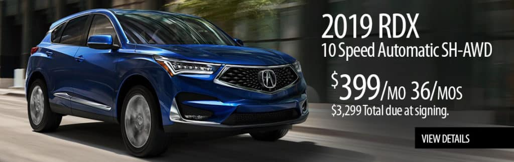 2019 RDX 10 Speed Automatic SH-AWD Featured Special Loyalty/Conquest Lease