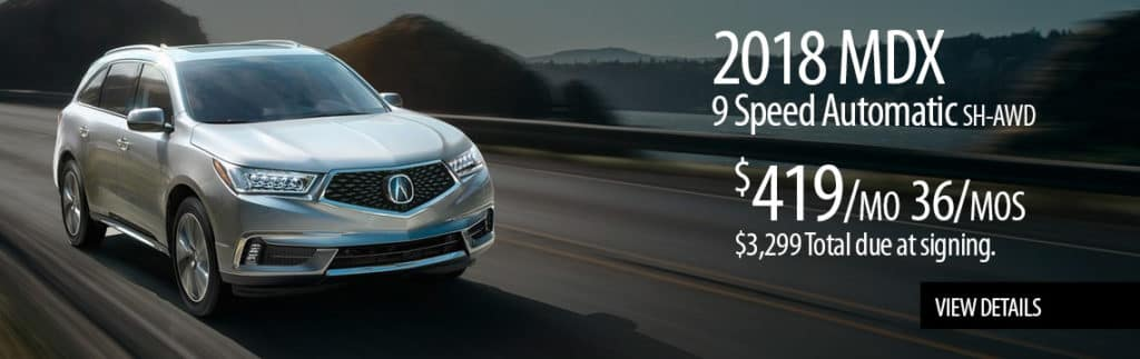 2018 MDX 9 Speed Automatic Featured Special Lease