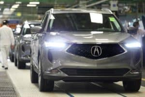 2022 Acura MDX assembly line