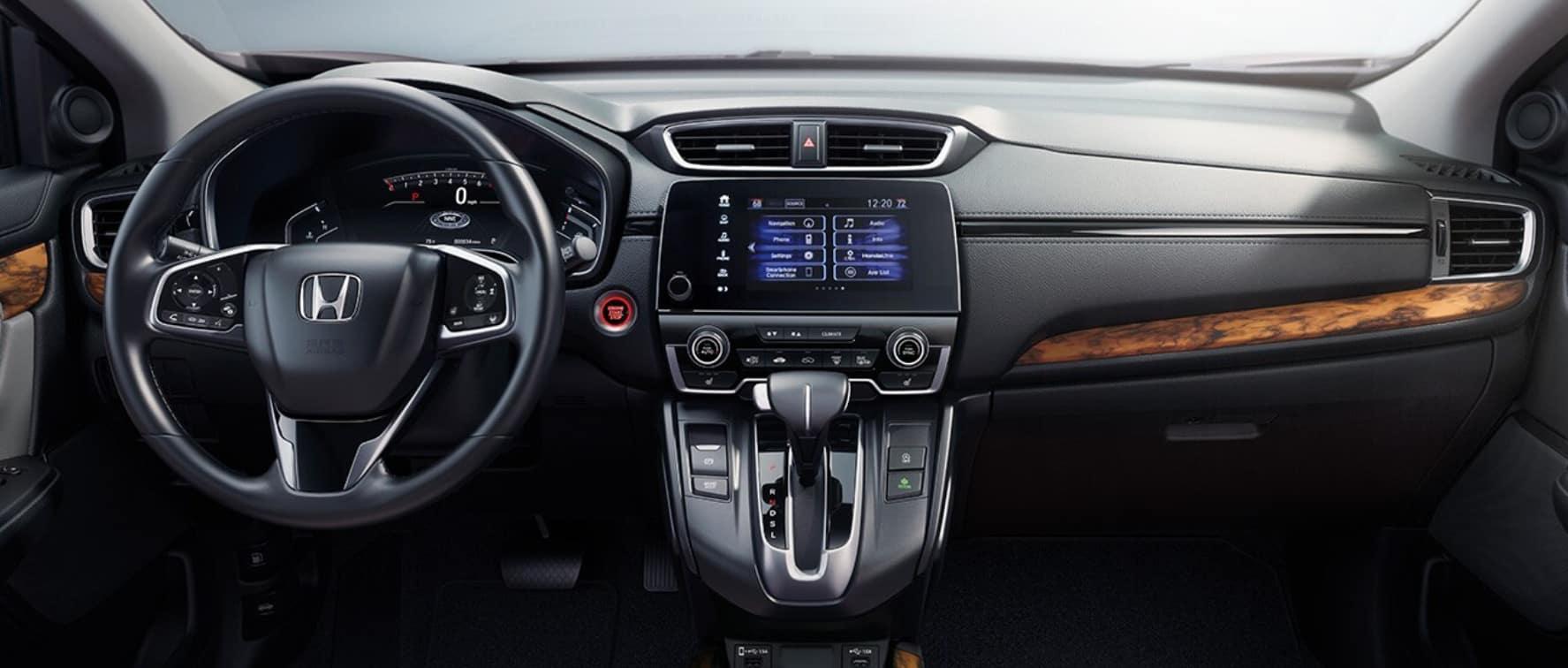 interior of a 2020 honda cr-v available now at schaller honda of new britain