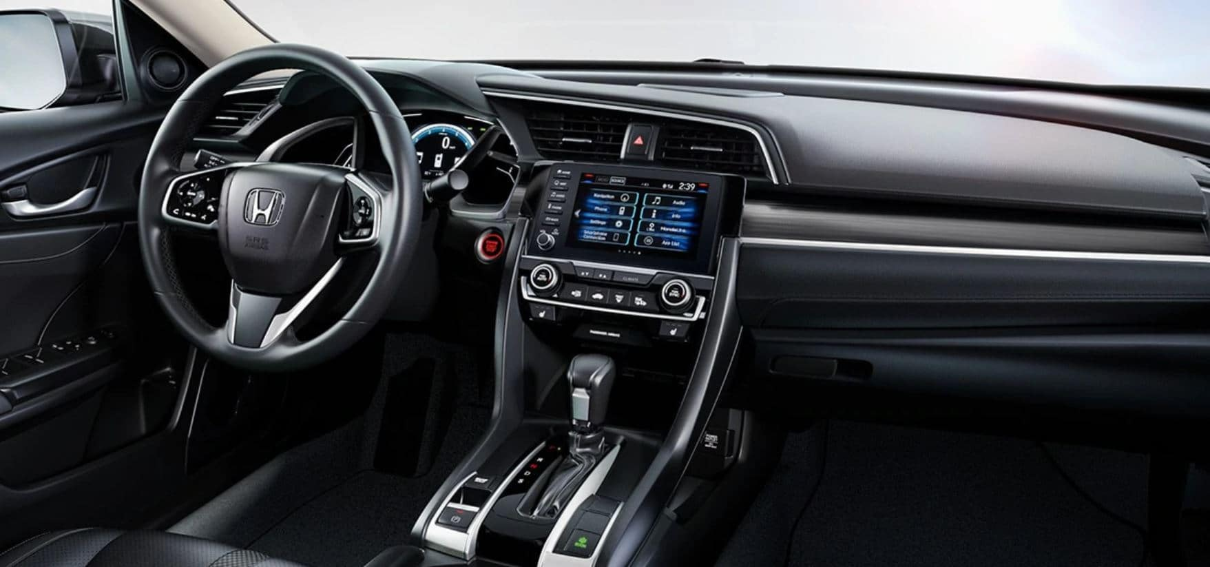 interior of a 2020 honda civic available now at schaller honda of new britain