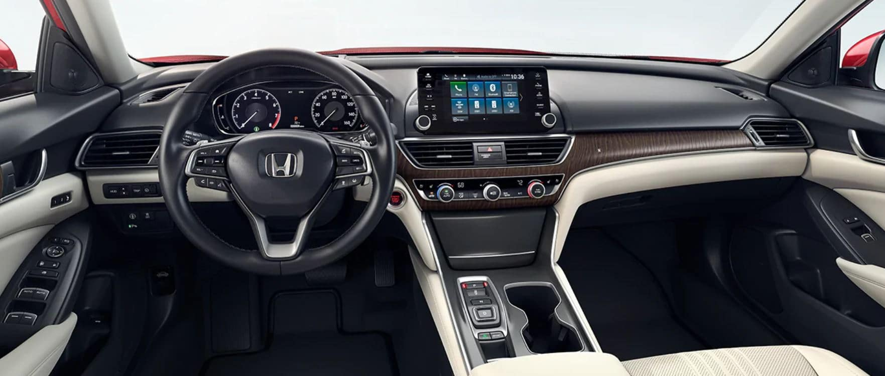 interior of a 2020 honda accord available now at schaller honda of new britain