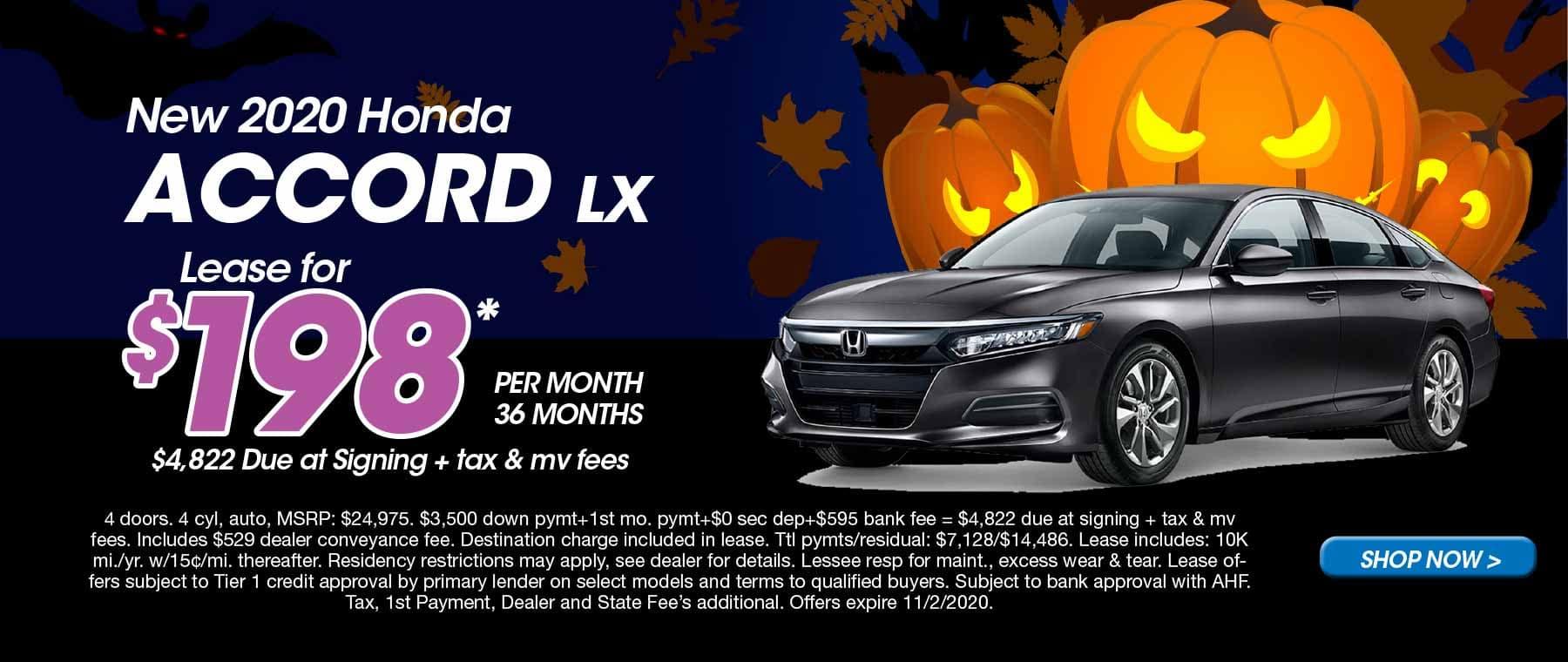 Schaller Honda 2020 Accord Oct Lease Offer