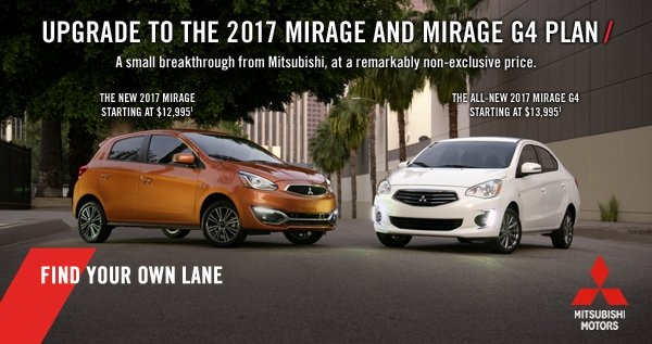 Mitsubishi 2017 Mirage and Mirage G4