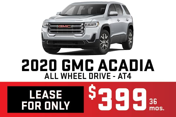 2020 GMC Acadia Lease Offer