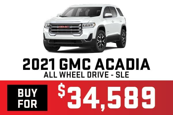 2021 GMC ACADIA AWD SLE
