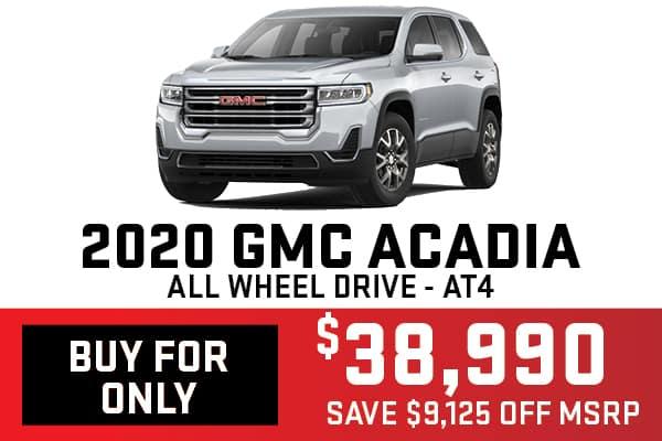 2020 GMC Acadia Buy For Offer