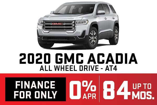 2020 GMC ACADIA AWD AT4 Finance Offer