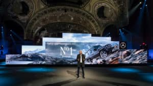 Mercedes-Benz New Year's Reception on the eve of the 2018 North American International Auto Show (NAIAS) with World Premiere of the new Mercedes-Benz G-Class at the Michigan Theater. Dr. Dieter Zetsche, Chairman of the Board of Management of Daimler AG and Head of Mercedes-Benz Cars.