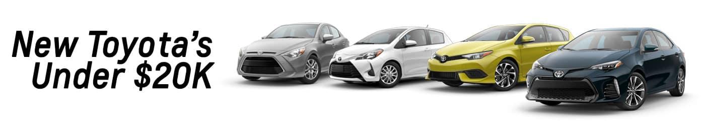 Toyota's Under $20K