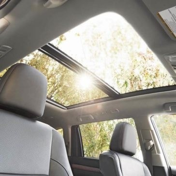 2017 Toyota Highlander Limited black interior with availale Platinum Package