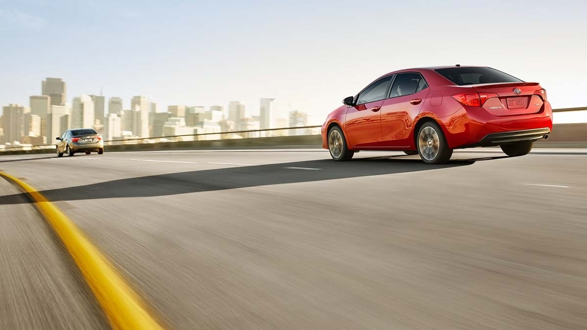 2017 Toyota Corolla driving on the highway