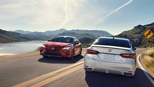 2018 Toyota Camry driving on the road