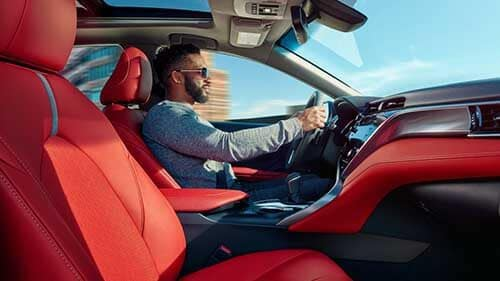 2018 Toyota Camry driver and interior view