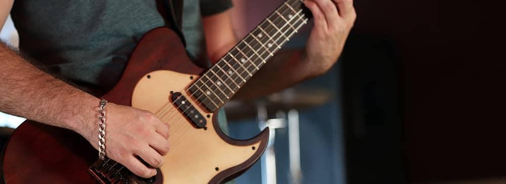 Guitar Playing Close Up