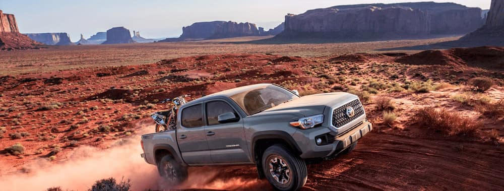 2018 Toyota Tacoma driving in the desert