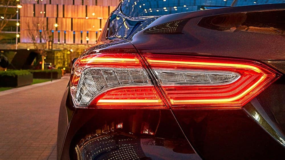 2019 Toyota Camry XSE V6 rear view full