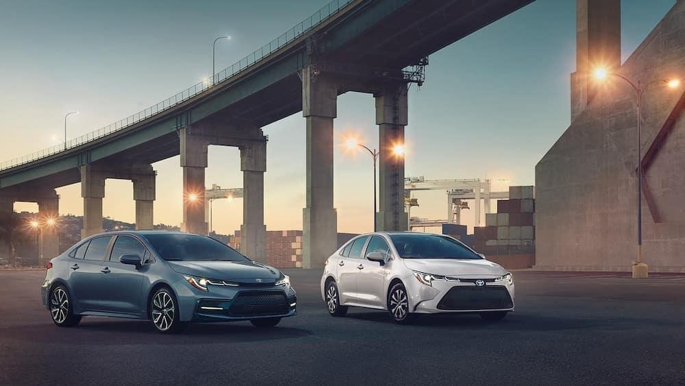 2020 Toyota Corolla XSE and Hybrid LE