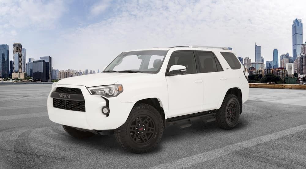 Toyota 4Runner XP Predator in white in front of city