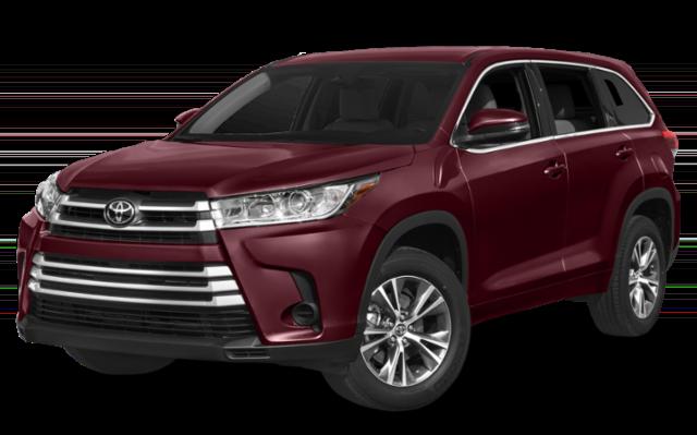 2019 Toyota Highlander red