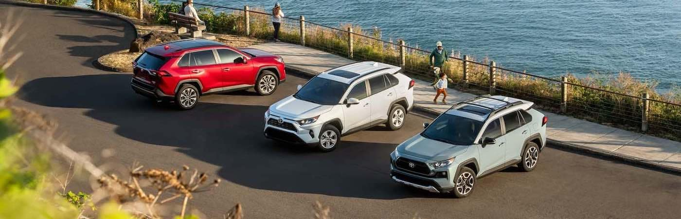 2019 Toyota RAV4 models near the beach 1400