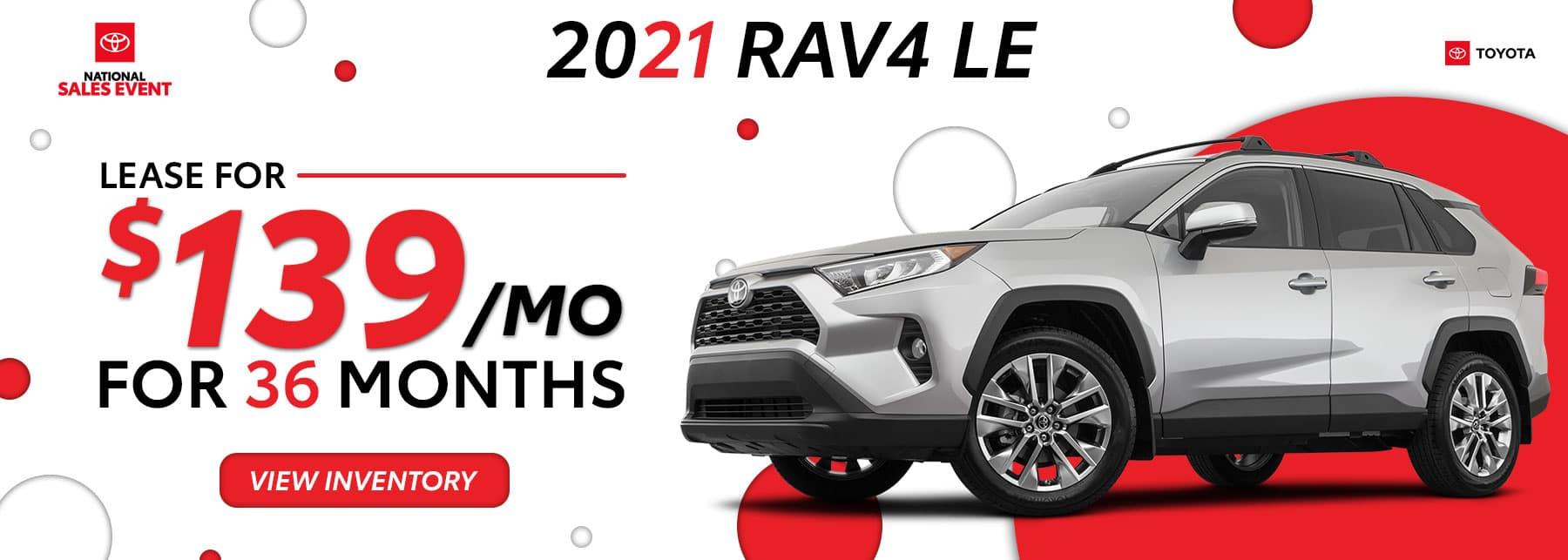Toyota RAV4 August Offers