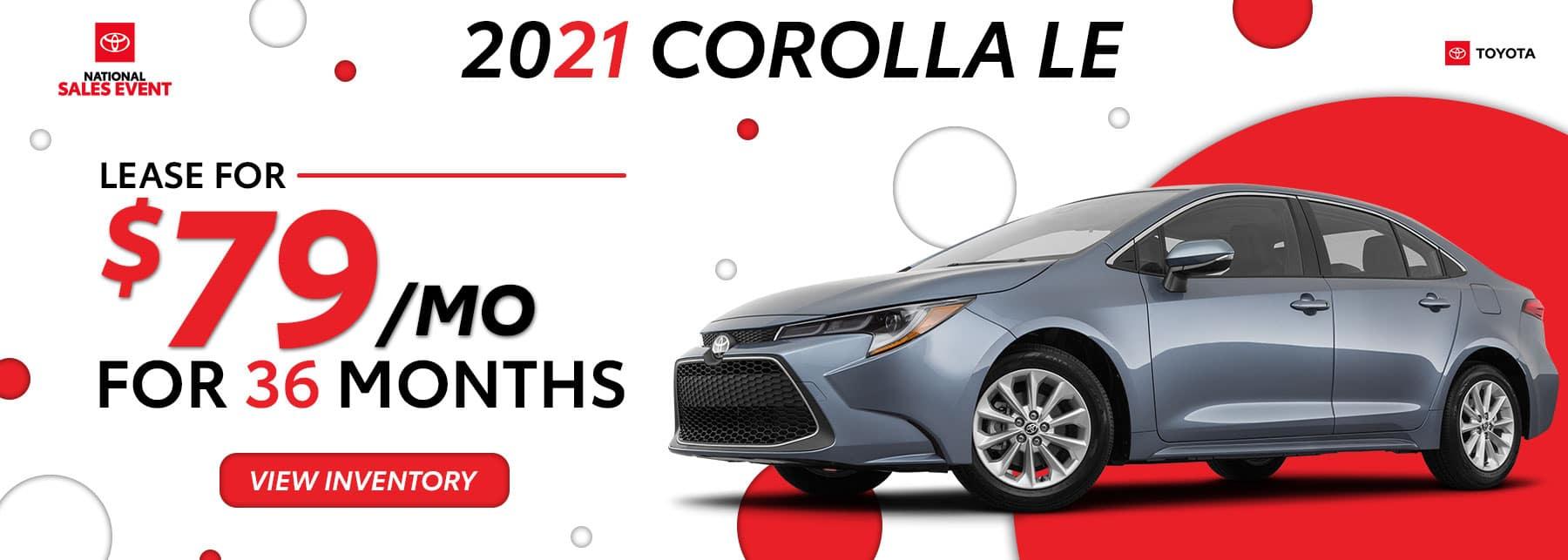 Toyota of North Miami – June 21 – 21 Corolla – 1800×643