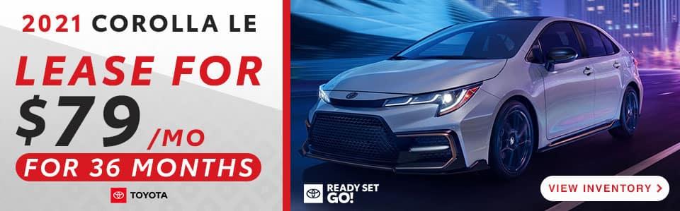 2021 Corolla lease offer