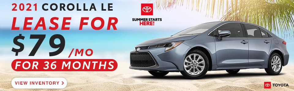 New Corolla offer - May 2021