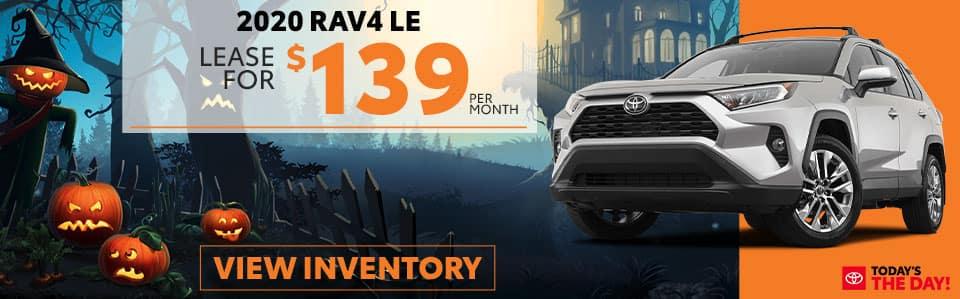 2020 RAV4 LE Lease Offer - October