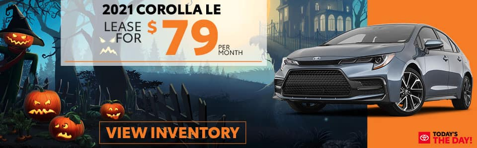 2021 Corolla Lease Offer October