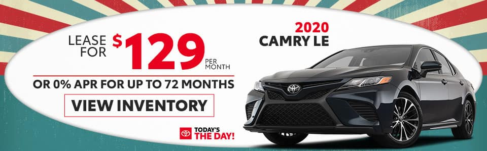2020 Camry LE Lease & Finance Sale