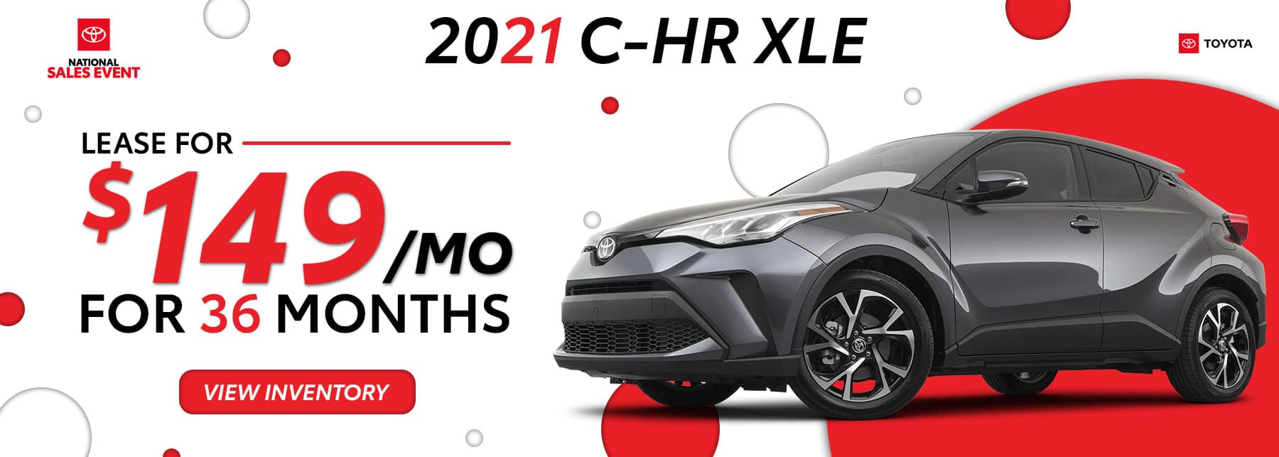 2021 Toyota C-HR August Offers