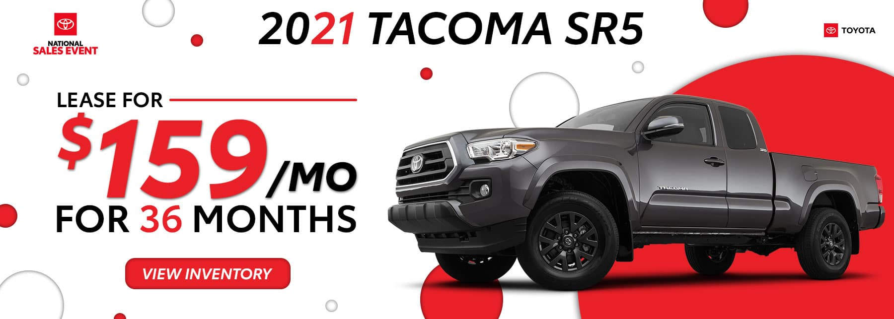 2021 Toyota Tacoma August Offers