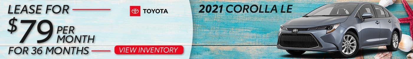 New Corolla Lease Offer in Miami