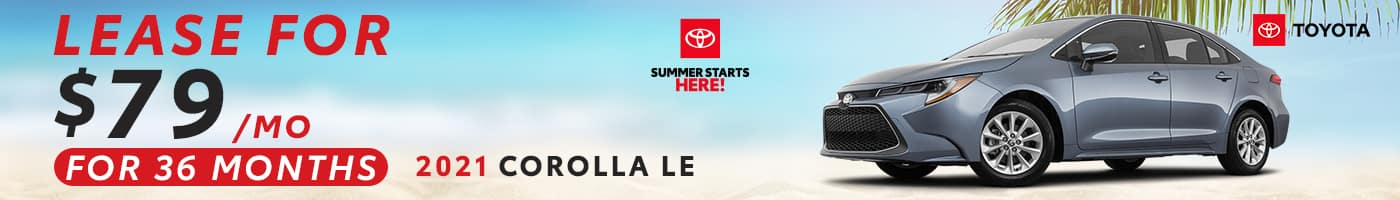 New Corolla Lease Offer!