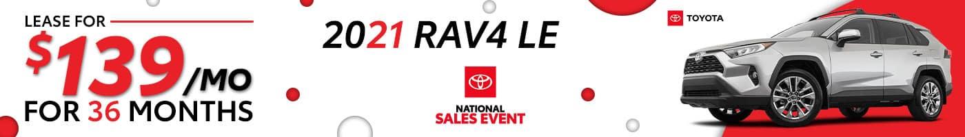 2021 Toyota RAV4 August Offers