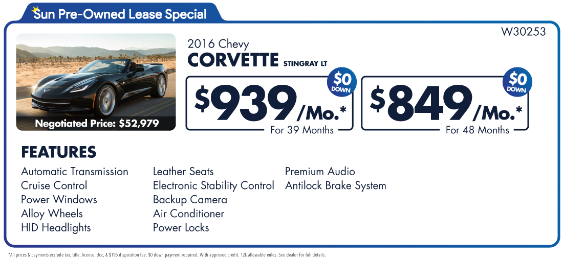 Chevy stingray lease deals