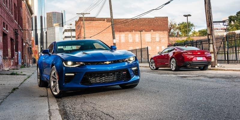 2018 Chevrolet Camaro blue exterior