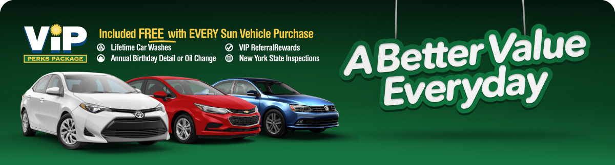 It's your choice this month at Sun Auto in Chittenango, Cortland, and Cicero, New York! Save on these incredible values with special event sale pricing!
