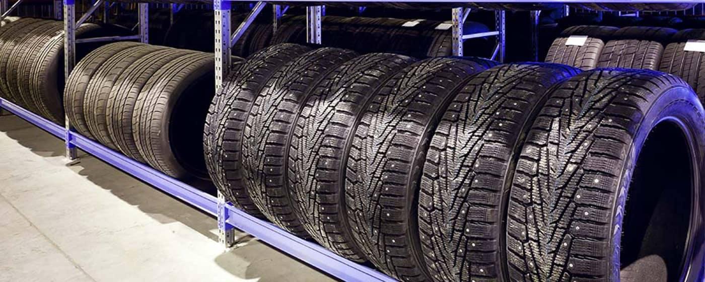 tires on rack