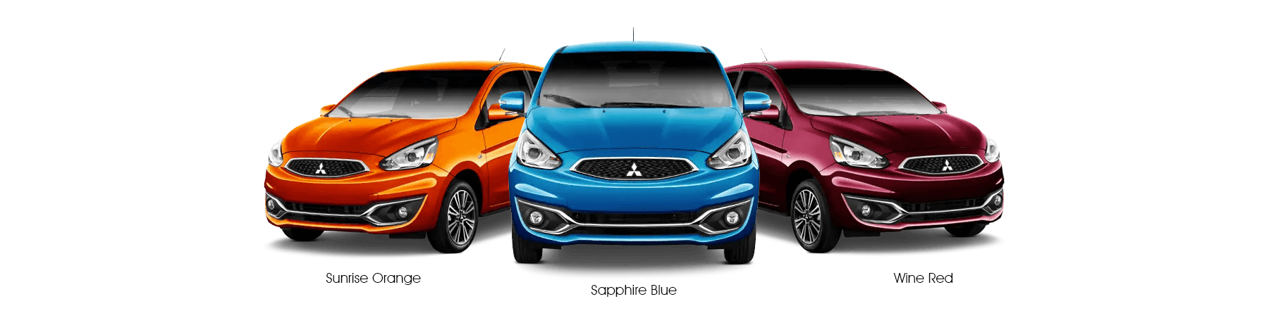 2020 Mitsubishi Mirage Colors Lineup