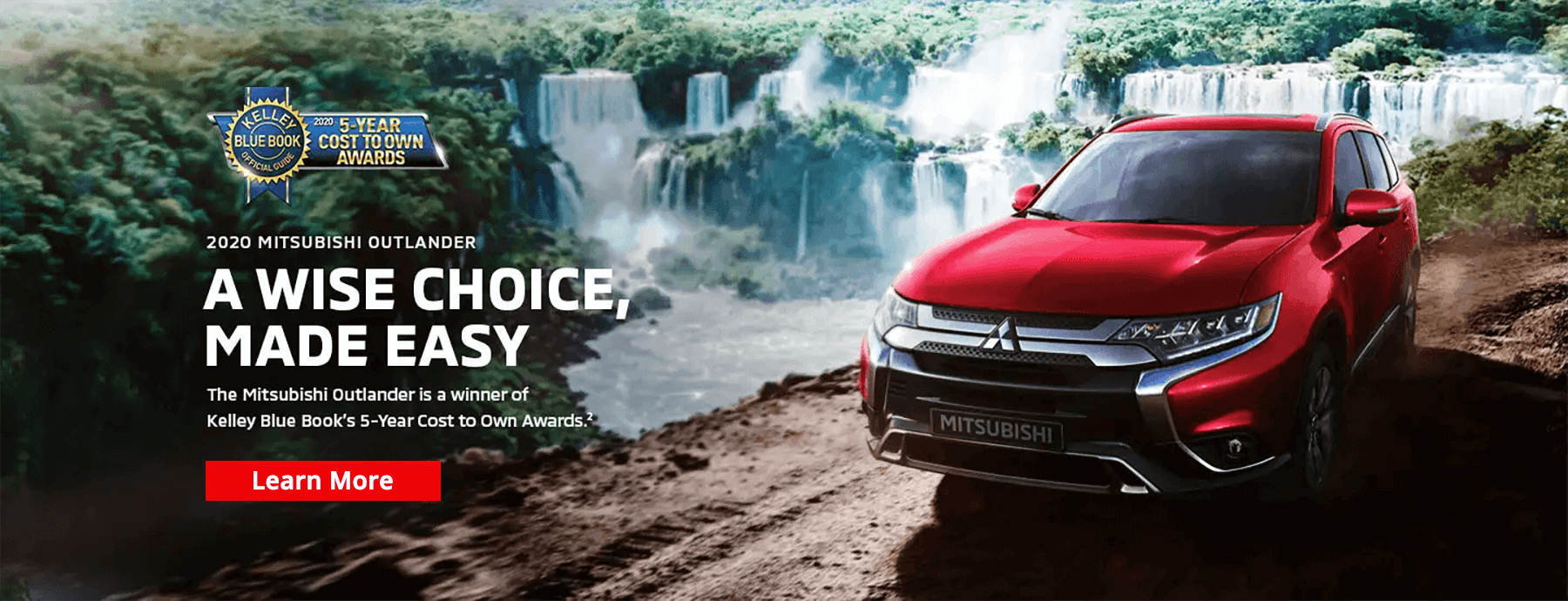2020 Outlander Earns the Kelley Blue Book 5-Year Cost to Own Award