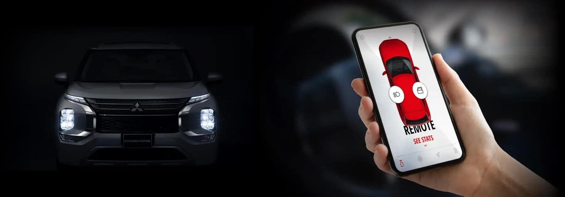 Mitsubishi Connect App Slider