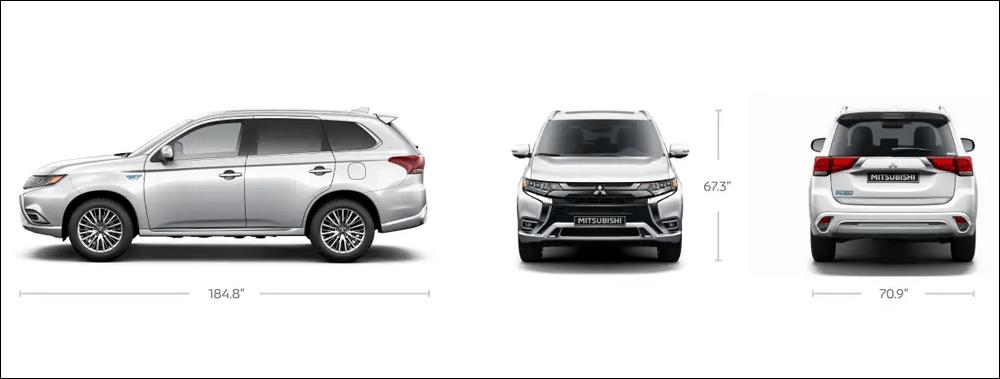 2022 Mitsubishi Outlander PHEV Exterior Dimensions