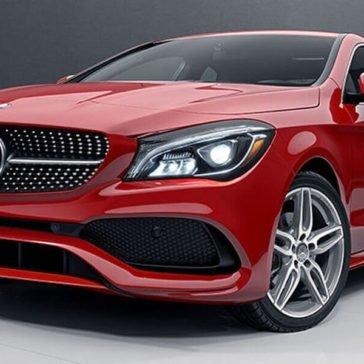 2017 Mercedes-Benz CLA red exterior