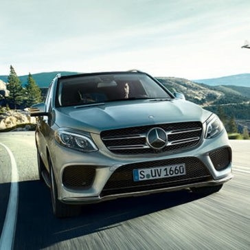 2017 Mercedes-Benz GLE 400 on the road